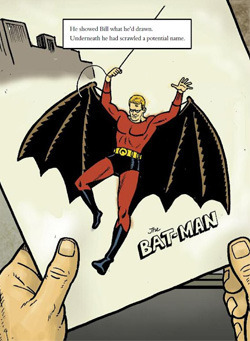 Kane's contribution to Batman- The Red Condom; Source: Bill the Boy Wonder: The Secret Co-Creator of Batman